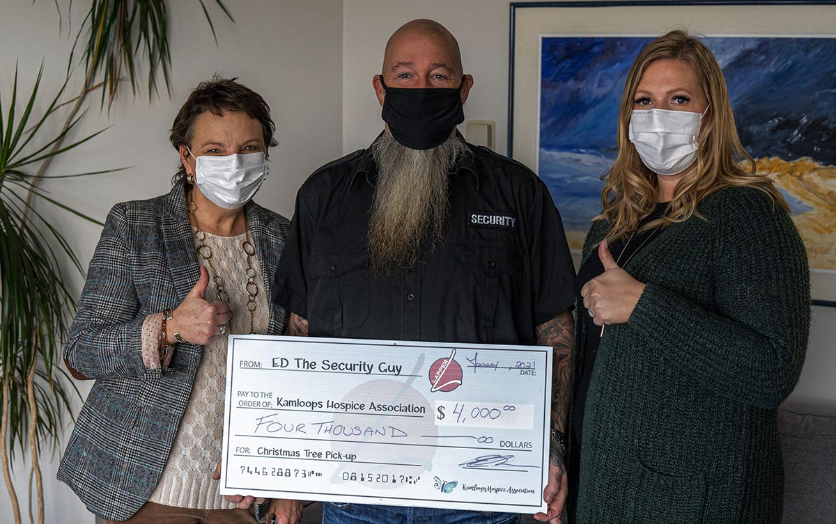 hospice Cheq donation